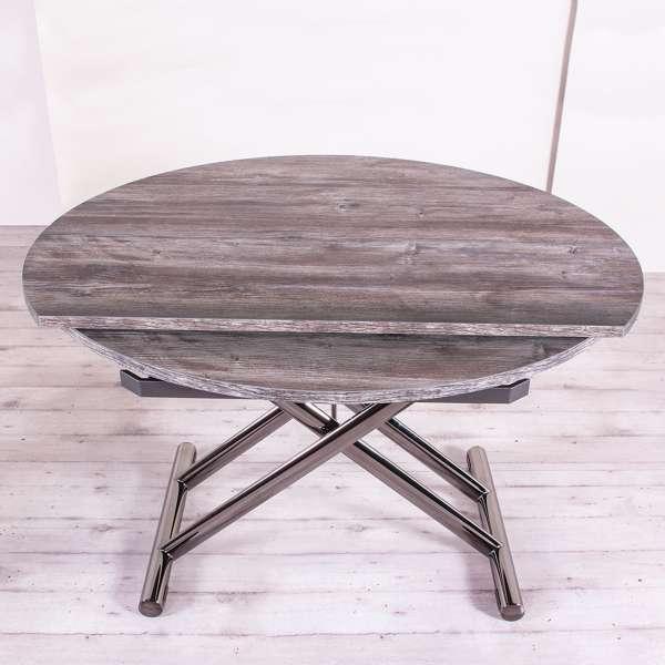 Table modulable extensible pour petit espace en mélaminé - Redondo - 3