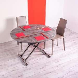 Table relevable extensible pour petit espace en mélaminé - Redondo