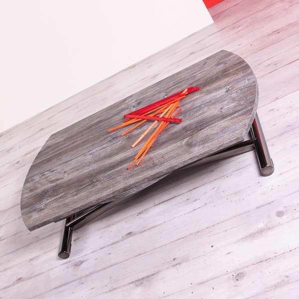 Table basse relevable extensible pour petit espace en mélaminé - Redondo - 4