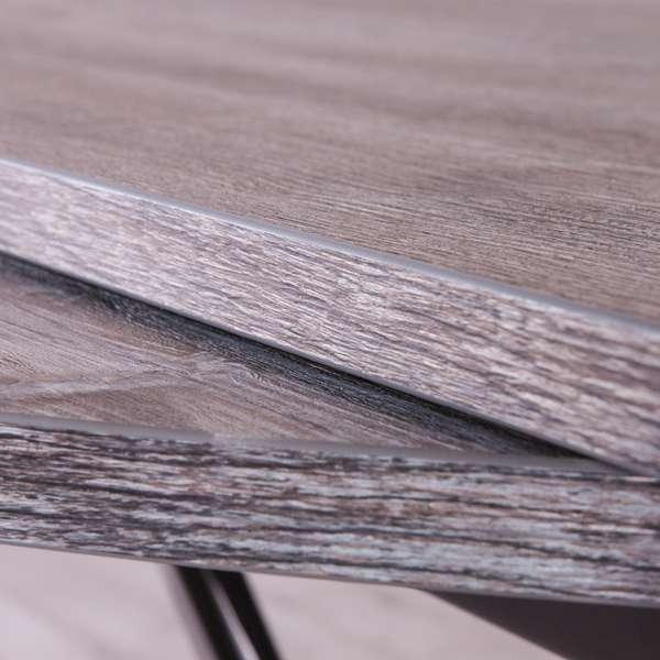 Table extensible relevable pour petit espace en mélaminé - Redondo - 6