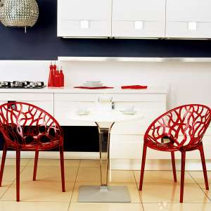 Table design ronde blanche - Ice