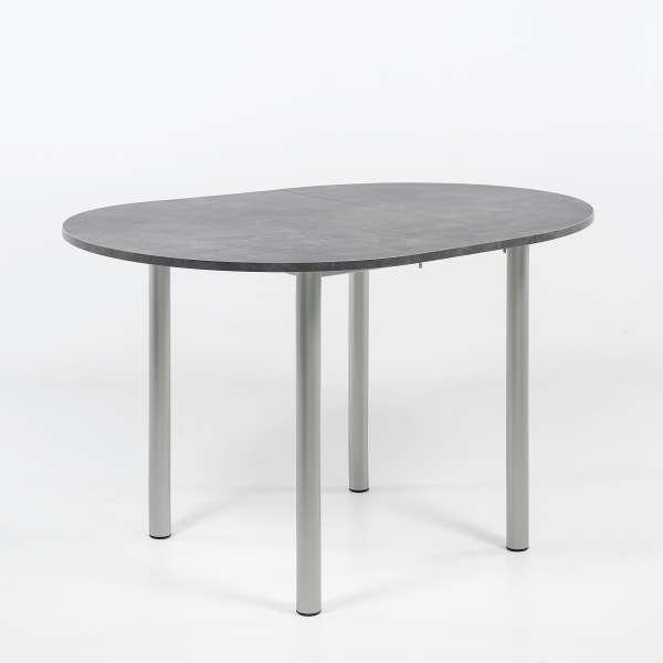 Table de cuisine ronde extensible en stratifié - Lustra - 2