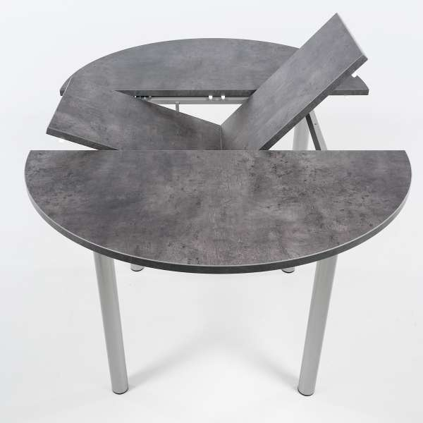 Table snack ronde extensible en stratifié - Lustra - 3