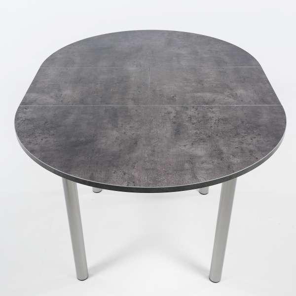 Table snack de cuisine ronde avec allonge en stratifié - Lustra - 4
