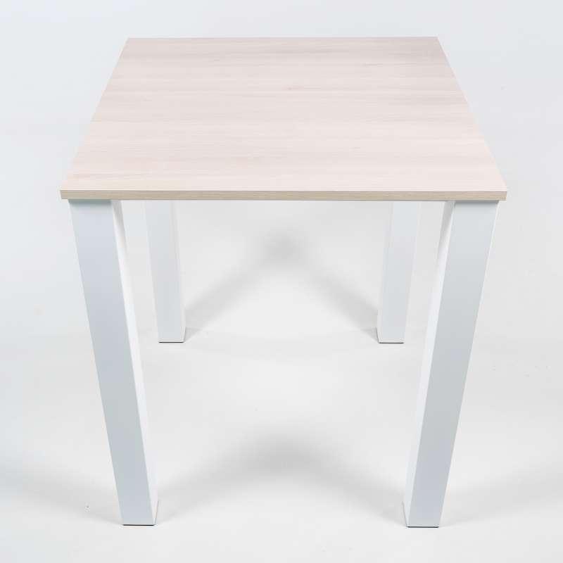 Table haute de cuisine carrée en métal et stratifié Quinta