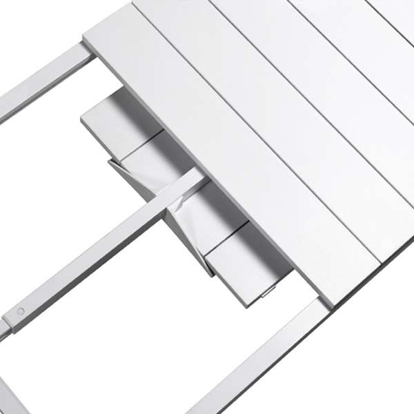 Table de jardin extensible en polypropylène DurelTop et aluminium blanc - Rio - 17