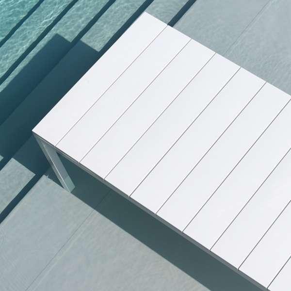 Table de jardin extensible en polypropylène DurelTop et aluminium blanc - Rio - 16
