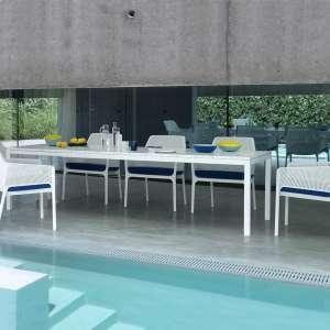 Table de jardin extensible en polypropylène DurelTop et aluminium - Rio 2