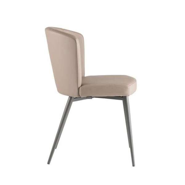 Chaise de salle à manger contemporaine en vinyle - Doris S - 5
