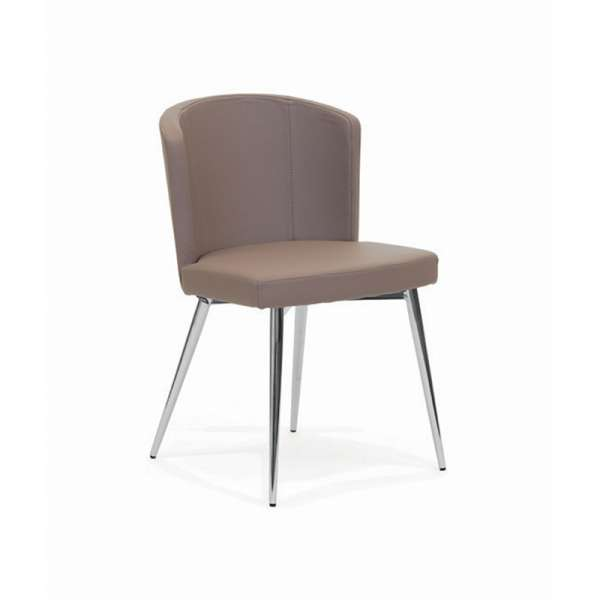 Chaise de salle à manger moderne en vinyle - Doris S - 1