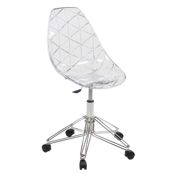 chaise de bureau plastique transparent