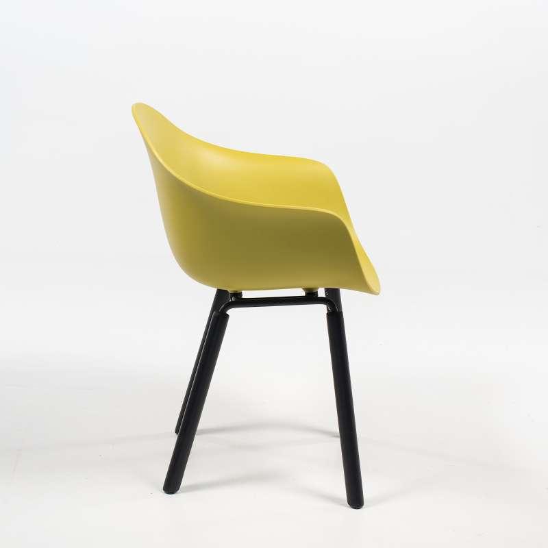 fauteuil design en polypropylène et bois - ta kubikoff®   4-pieds
