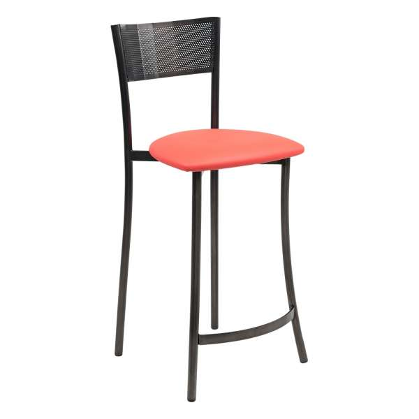 Tabouret snack assise synthétique orange - Wasabi - 7