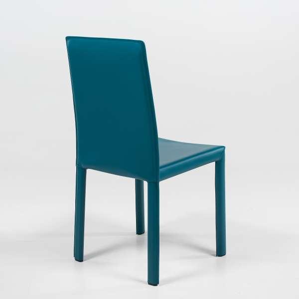Chaise de salle à manger contemporaine en croûte de cuir - Elisa A - 4
