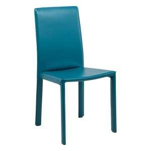Chaise de salle à manger en croûte de cuir - Elisa A