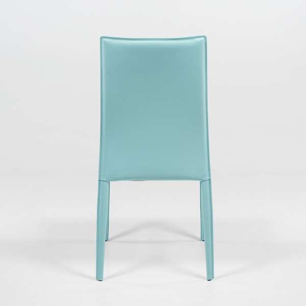 Chaise de séjour en croûte de cuir - Kesha  - 5