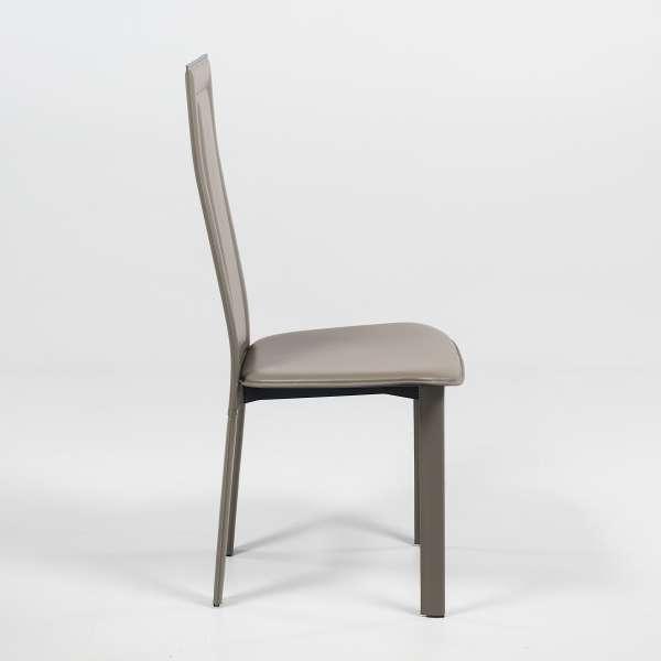 Chaise de salle à manger contemporaine en croûte de cuir - CL105 - 3