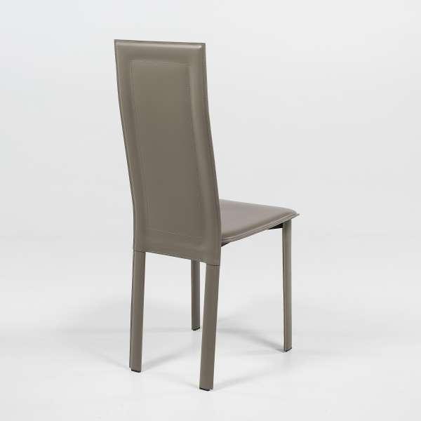 Chaise de séjour contemporaine en croûte de cuir - CL105 - 4