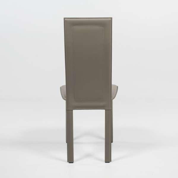 Chaise de salle à manger en croûte de cuir - CL105 - 5