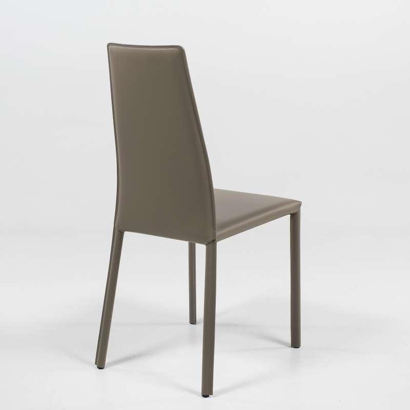 Chaise de séjour italienne en croûte de cuir - Monica