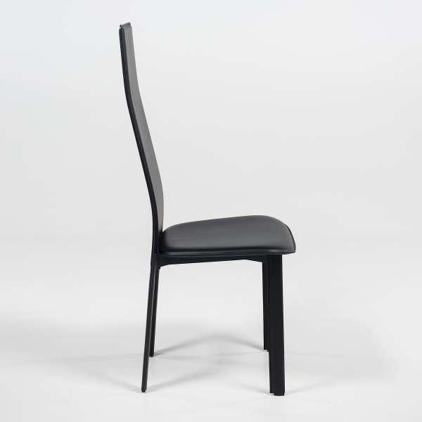 Chaise contemporaine en croûte de cuir - Chris - 3