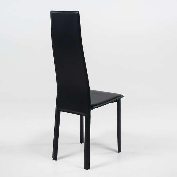 Chaise de séjour italienne contemporaine en croûte de cuir - Chris - 4