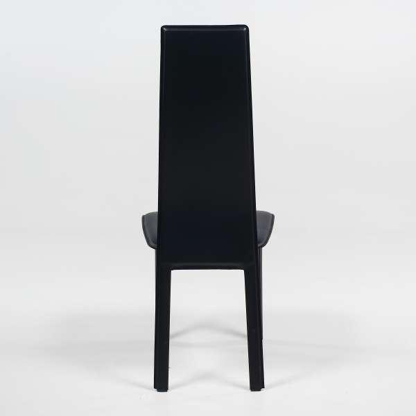 Chaise de salle à manger contemporaine en croûte de cuir italienne - Chris - 5
