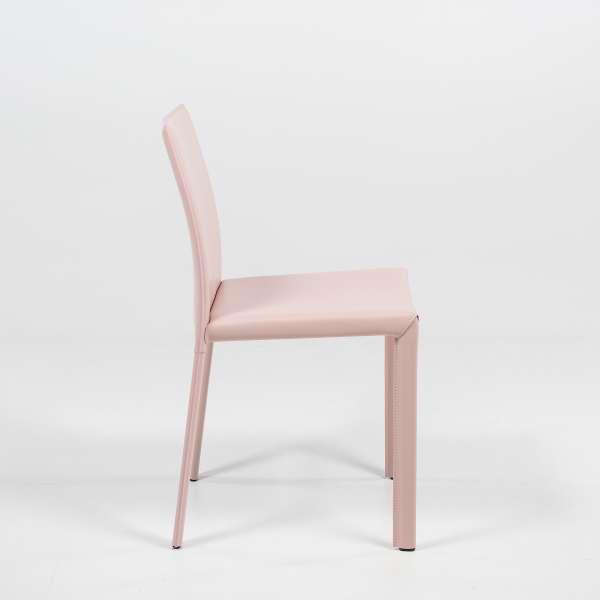 Chaise en croûte de cuir - Iris - 3