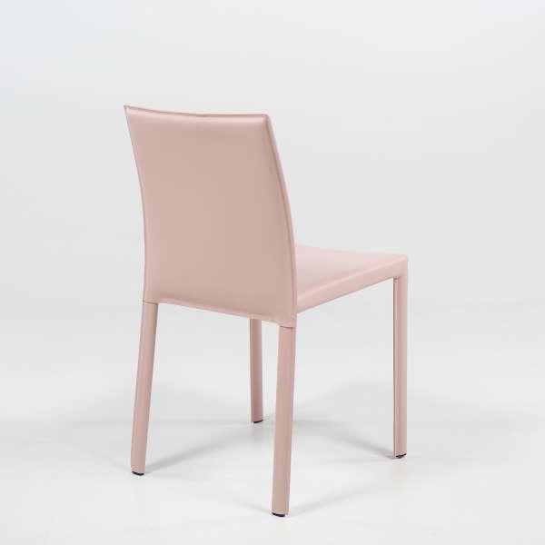 Chaise de salle à manger en croûte de cuir - Iris - 4