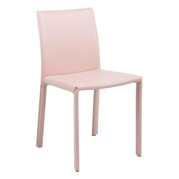 Chaise de séjour en croûte de cuir - Iris - 1