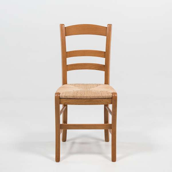 Chaise en bois et paille de seigle - 370 - 2