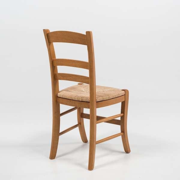 Chaise de séjour rustique en bois et paille de seigle - 370 - 4