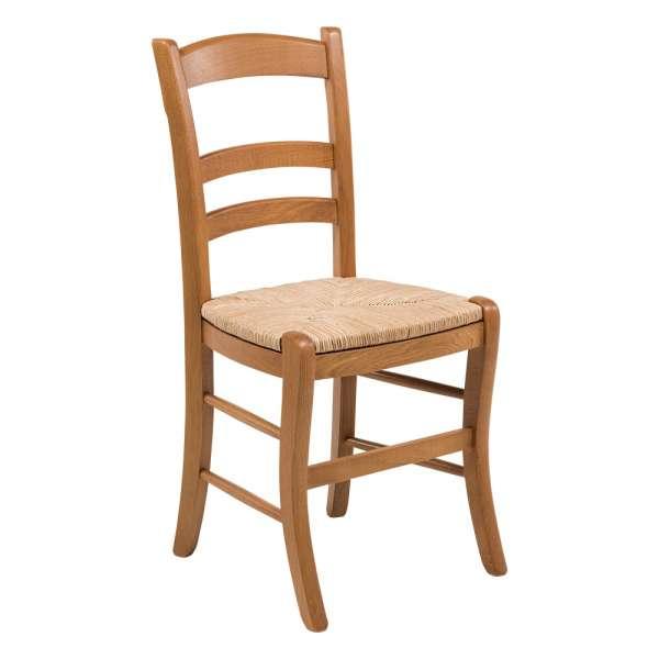 Chaise rustique en bois et paille de seigle - 370 - 1