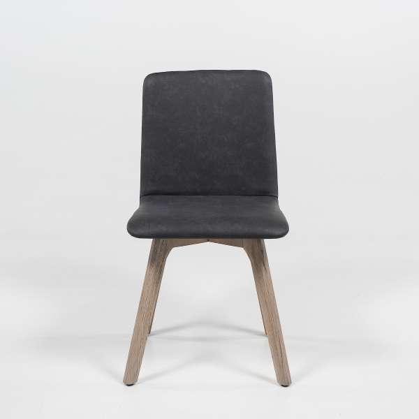 Chaise scandinave en synthétique et bois - Plaza 2 - 2