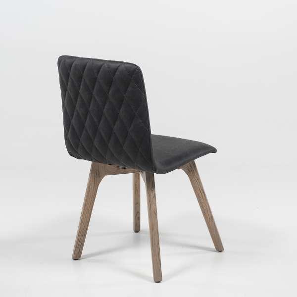 Chaise de salle à manger scandinave en synthétique et bois - Plaza 2 - 4