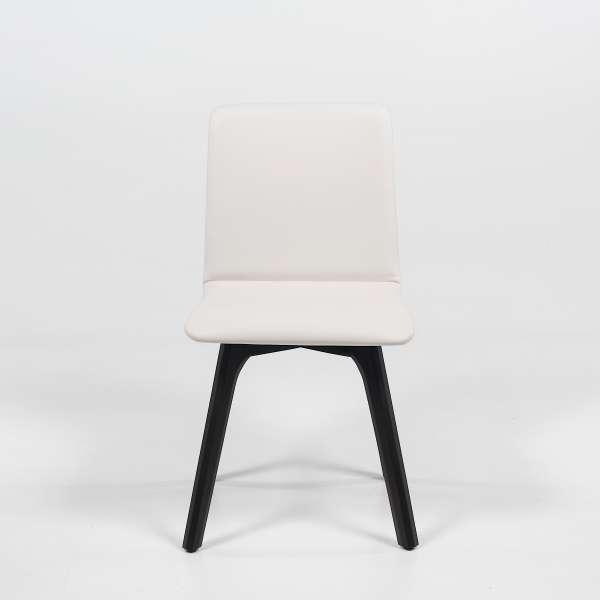 Chaise de salle à manger en synthétique et bois - Plaza - 2