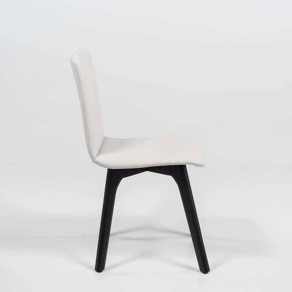 Chaise de salle à manger scandinave en synthétique - Plaza - 3