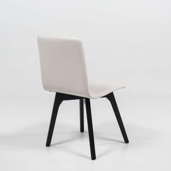 Chaise de salle à manger scandinave en bois - Plaza - 4