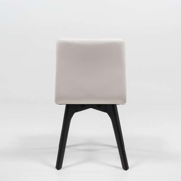 Chaise de séjour scandinave en synthétique et bois - Plaza - 5