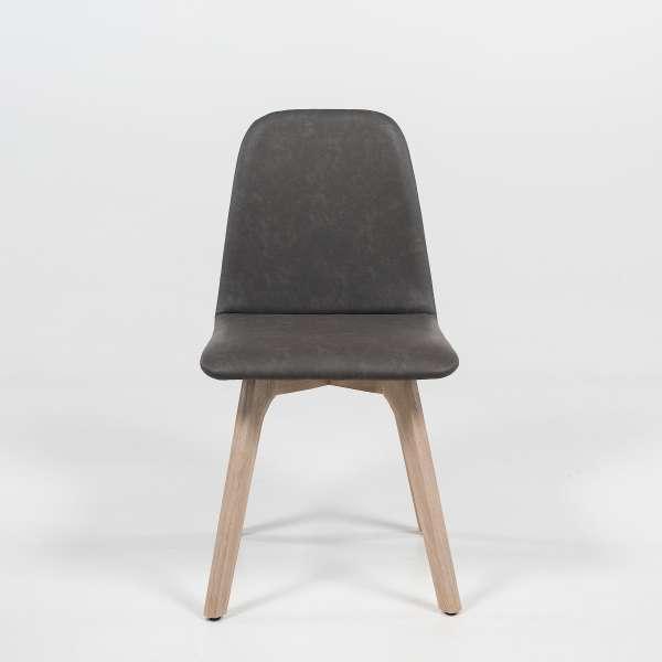 Chaise scandinave en synthétique et bois - Pandora - 2