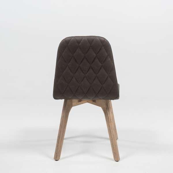 Chaise matelassée en synthétique et bois - Pandora 2 - 5