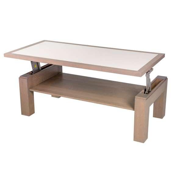Table basse rectangulaire modulable en bois et céramique - Dinette - 2