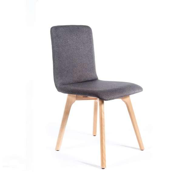 Chaise de salle à manger moderne en tissu - Plaza - 2