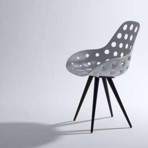 Chaise design en polypropylène ajouré et métal - Angel Dimple Kubikoff® 2