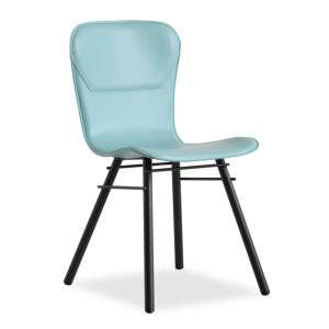 Chaise rétro design en croûte de cuir et métal - Avenue