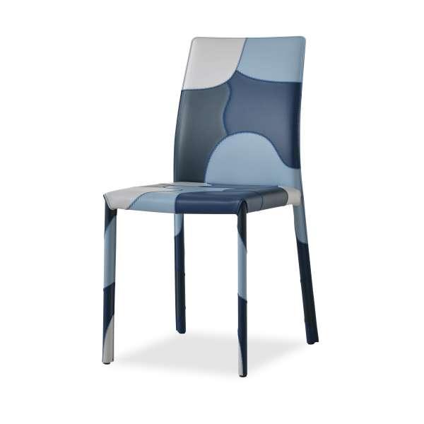 Chaise en croûte de cuir - Patchwork - 3