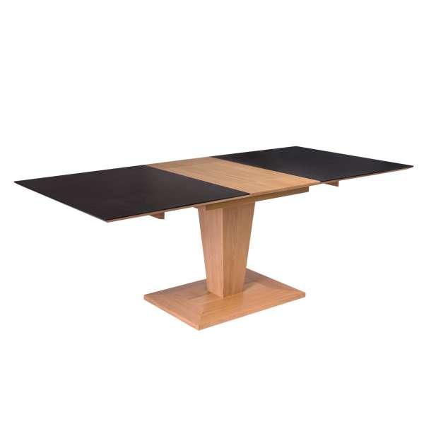 Table rectangulaire avec rallonge en céramique et bois - Philae - 4