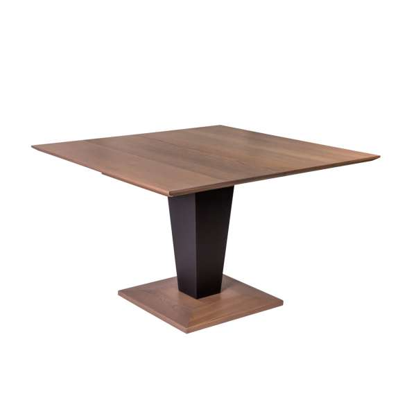 Table carrée moderne extensible en bois - Philae - 1