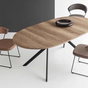Table ovale extensible en mélaminé - Giove Connubia®