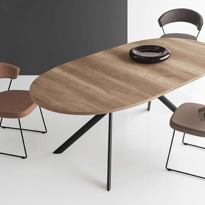 Table ovale extensible en verre Giove Connubia® | 4